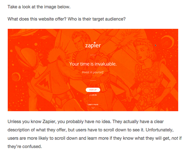 zapier-homepage-conversion-insights